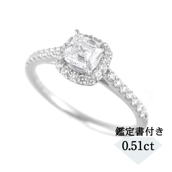 プラチナダイヤモンドリング(0.51ct/Dカラー/VS1/スクエアエメラルドカット)