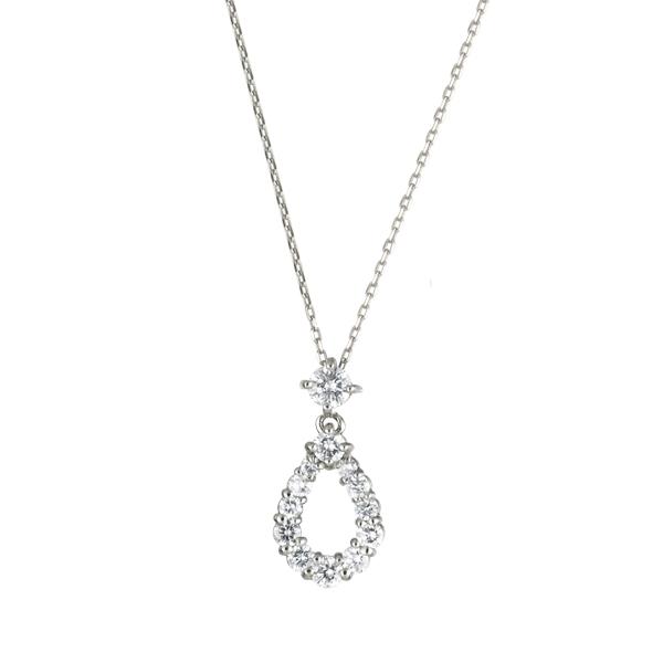 ダイヤモンドペンダント(プラチナ/しずく型/13石/0.30ct)