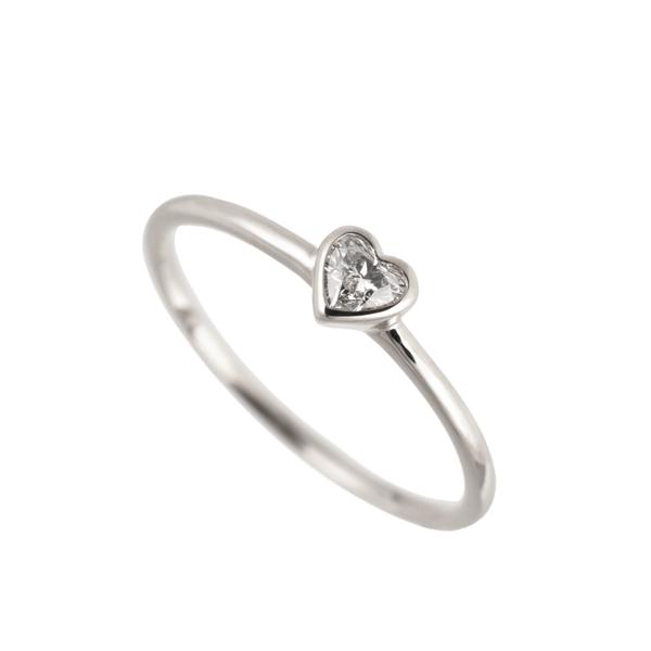 ダイヤモンドリング(0.1ct/FカラーUP/VS2UP/ハート/プラチナ/フクリン)