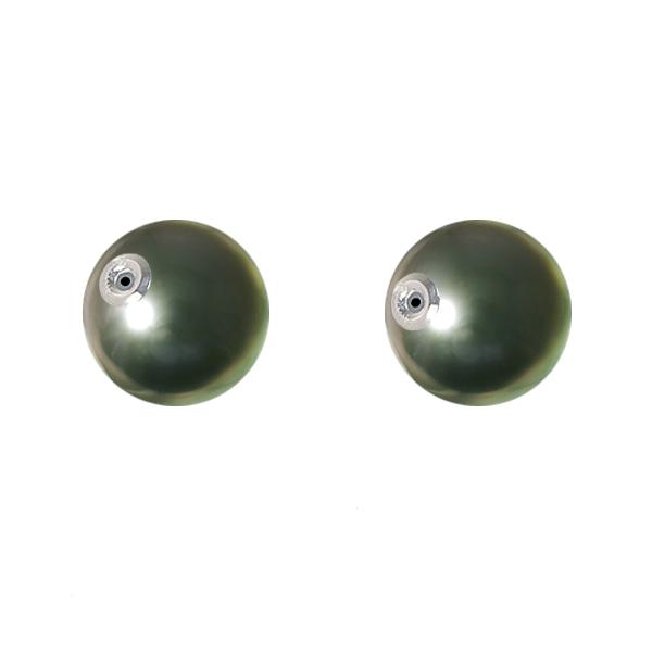 黒蝶真珠 ピアス用キャッチ(10mm/K18ホワイトゴールド)「京セラ ...