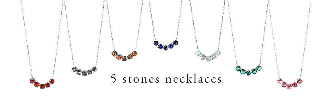 5 stones necklaces/5石ネックレス
