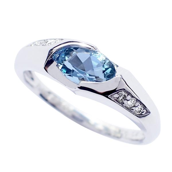 指輪 アクア マリン